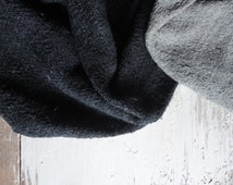 NEW: hand dyed rug from vintage linen _ light grey, grey or anthrazit