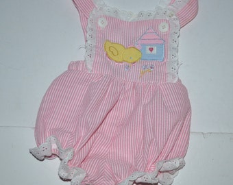 Vintage Good Lad  girls wear toddler 3 - 6 m  girl's poly cotton playground  romper overall New vintage Gift for baby girl  Photo prop