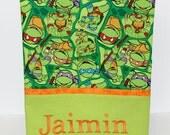 Personalized Teenage Mutant Ninja Turtles Pillowcase, girls or boys pillowcase, Twin pillowcase