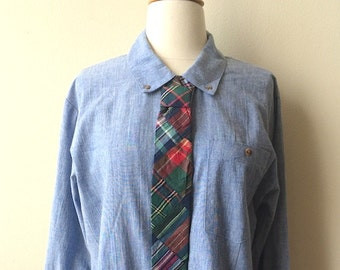 Vintage Trompe L'oeil Tie Chambray Shirt