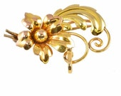 Vintage Watch Pin C1940 - Retro Style, Rose Gold - Brooch Lapel Pin