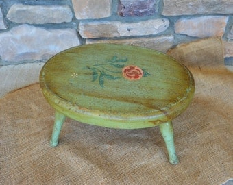 Shabby Chic Vintage Stool / Milking Stool / Rustic Stool.....Photo Prop