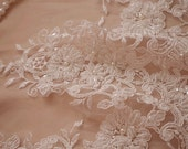 delux bead and sequined lace trim, bead cord lace trim, bridal lace trim