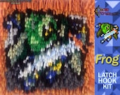 Chrono Trigger:  Frog - Latch Hook Kit - DIY Latch Hook Rug 7*7 Inches