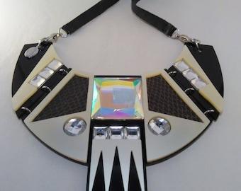 Geometric Acrylic Bib Necklace