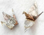 Origami Cranes - 50 Small World Map Origami Paper Cranes