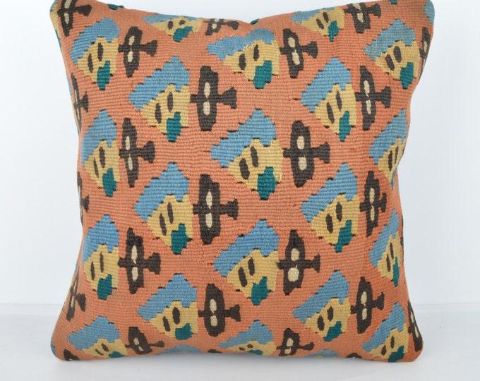 Wool Pillow, Kilim Pillow, KP1129,  Decorative Pillows, Designer Pillows,  Bohemian Decor, Bohemian Pillow, Accent Pillows, Throw Pillows
