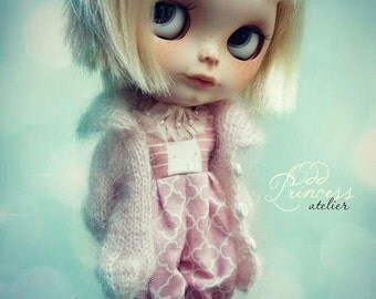 Blythe Jacket SUGAR BUNNY By Odd Princess Atelier, Autumn-Winter Hand Knitted Collection