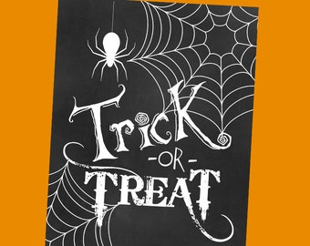 Trick or Treat Printable Art 8x10 or 16x20