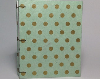 Mint & Gold Polka Dot Journal