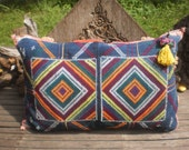 RESERVED FOR AKOSUA   Black Hmong Vintage Textile Cushion Cover