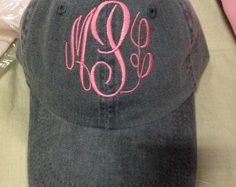 Monogrammed Baseball Cap Personalized Hat Ladies Girls Teens BaseBall Cap