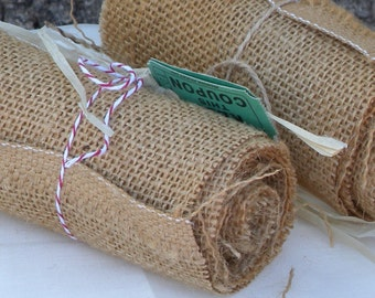 Small Bundles  of Burlap for Garland for Wrapping and or For all your Shabby ~ Country Rustic Decorating Needs