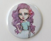 Candy - 2.25 inch Pocket Mirror - Inspired by Pastel Hair, Rockabilly, Tattoos, Lollipops and Pop Culture