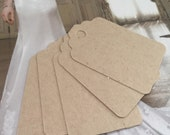 Set of  50 light beige, natural brown Tags , Favor Tags, Treat Bag Tags, Product Tags, Hang Tags, Wish Tree Tags, birthday tags ,wedding tag