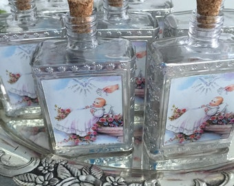 Holy Water Bottles, decor bottler, Baptism favors, holy water bottler favors, bottle favors. religious favors,