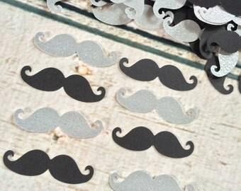 Mustache Confetti, Mustache Baby Shower, Mustache Bash, Little Man Baby Shower, Boy Baby Shower Confetti (50 Count)