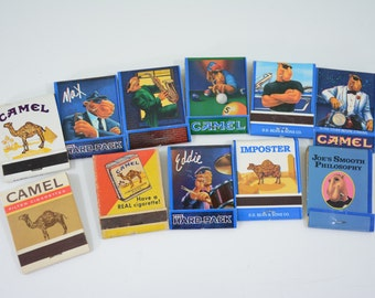 11 Camel Cigarette Matchbooks