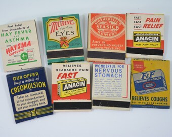 8 Medicine Matchbooks