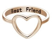 HEART ring >> best FRIEND.   for.  ever.  >>> SALE <<<