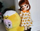 YO-SD Yellow ducky dress