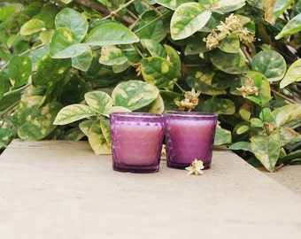 Honey Bee soy wax Votives aroma candle set of 4