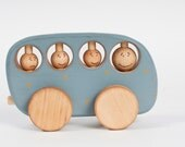 Wooden Toy Bus, eco-friendly kids toy