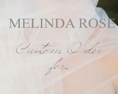 """Custom Order for Aileen-  80"""" length Silk Chiffon Veil -Style 1815 'Guinevere' MADE TO ORDER"""
