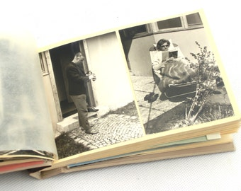 Vintage Two Photo Albums with Photos 50s and 60s, Black and white photos, Retro album, Set Album Photos
