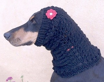 Knitting Pattern For Medium Sized Dog : Braided Cables - Dog Snood PATTERN for medium to large dogs - Knitting Patter...