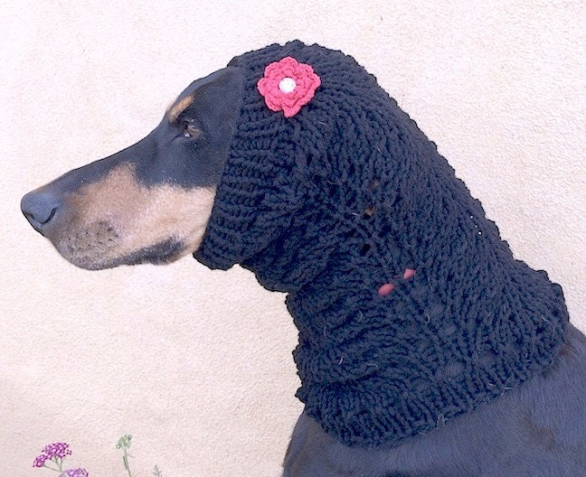 Snood Dog Knitting Pattern Wool And The Gang : Lace Dog Snood PATTERN for size medium to large dog Knitting