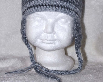Baby boy ear-flap hats size 6-12 months