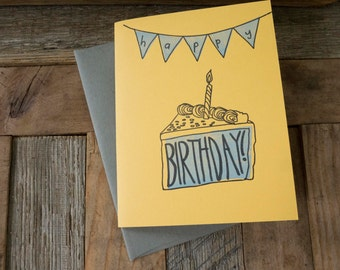 Cake Birthday Letterpress Card