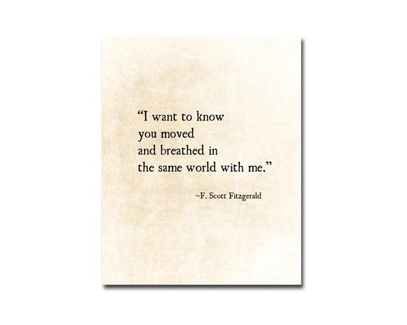F Scott Fitzgerald Love Quote Entrancing Fscott Fitzgerald Quote Love Quote Romantic Quote Golden
