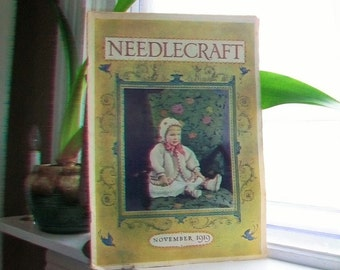 1919 Needlecraft Magazine November Issue with Great Cream Of Wheat Ad Vintage 1910s Sewing