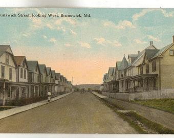Vintage Postcard, Brunswick, Maryland, Brunswick Street Looking West, 1914