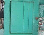 Salvage Painted Cabinet Door Vintage Architectural Salvage Farmhouse Shabby Cottage Prairie