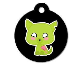 SALE Halloween Zombie Dog Pet Tag - Dog Tags for Dogs - Custom Pet ID Tag for Dogs or Cats, Personalized Dog ID Tag, Sizes Small and Large