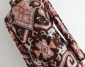 Aztecs Are Coming . XL . Ethnic Inka Cherokee Maya Southwestern Print Midi Dress 70s