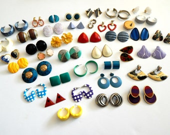 1980's Post Earrings Grab Bag 80's Party Gear Two or More Pairs