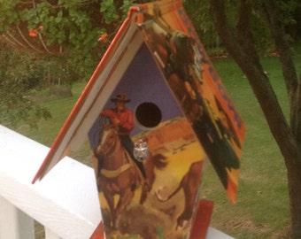 "The ""Wonder Book of Cowboys"" Birdhouse"
