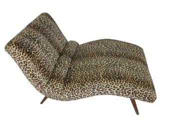 Mid Century Modern Adrian Pearsall chaise lounge sofa / chair