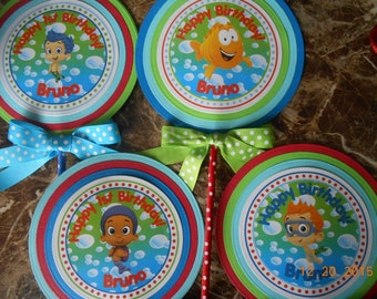 Bubble Guppies Centerpiece-Bubble Guppies Cake Topper-Bubble Guppies Birthday-Bubble Guppies Party-Bubble Guppies Decorations-Boy's Decor