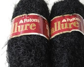 2 skeins Patons Allure ebony