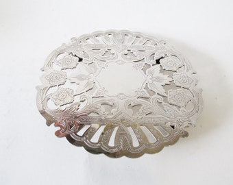 Wallace Trivet, Silver Plate Hot Plate, Dining Table Decor