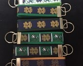 Notre  Dame Inspired Key Fob ... Choose Pattern And Webbing Create  and design your unique fob.