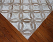 IN STOCK PROMO:  4.8 x 6.8 ft  - Off White Beige Patchwork Rug Cow Hide Hairhide Carpet