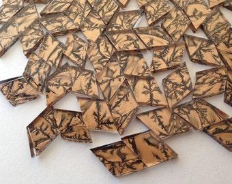 Diamond Mosaic Tiles - 100 Bronze Metallic Van Gogh Stained Glass