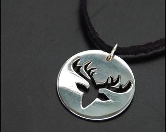Deer - Sterling silver pendant