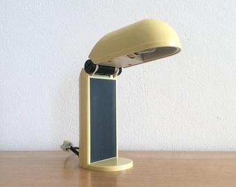 Vintage yellow Vrieland Design desk lamp